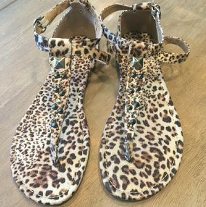 Women's leopard print sandals